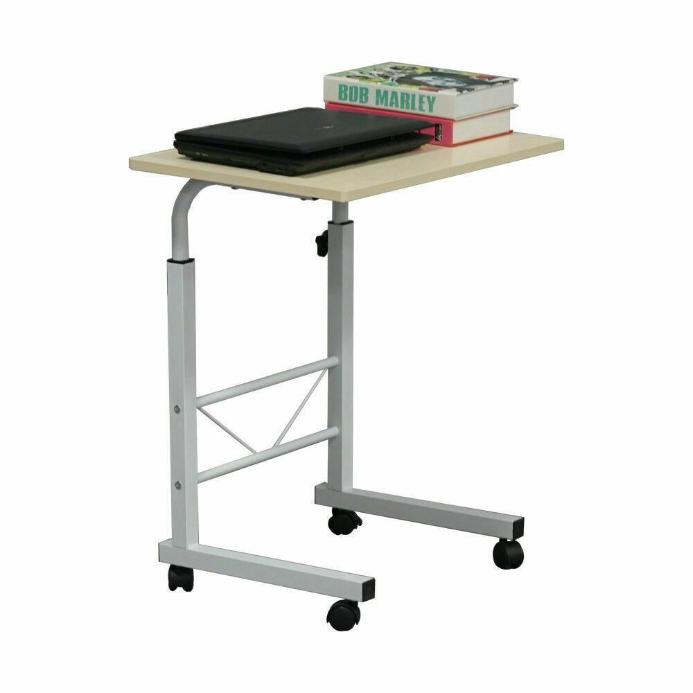 Side Table Sofa End Cart Laptop Pc Rolling Computer Desk Stand Study Tray Home Affilink Desk Desksetup Deskorga Desks For Small Spaces Side Table Wood Desk