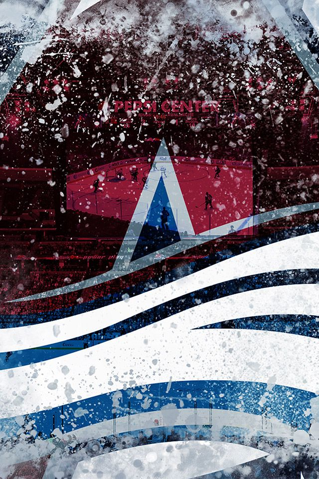 Freeios7 Colorado Avalanche Ice Logo Parallax Hd Iphone Ipad Wallpaper Colorado Avalanche Nhl Wallpaper Colorado Avalanche Logo