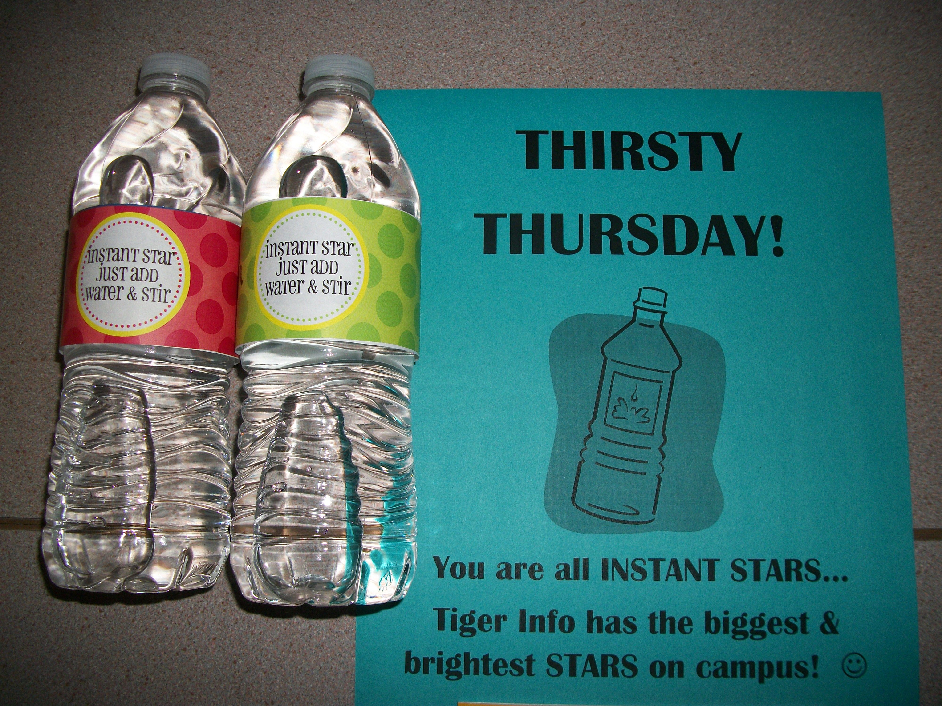 Bottled water a national student employment week gift to