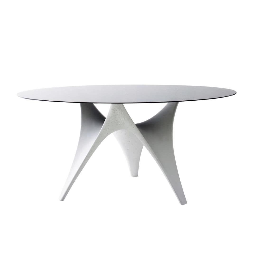 Tavolo Da Pranzo Moderno In Vetro In Cemento Rotondo Arc By Foster Partners Molteni C Video Tavolo Da Pranzo Moderno Tavoli Da Pranzo Tavolo
