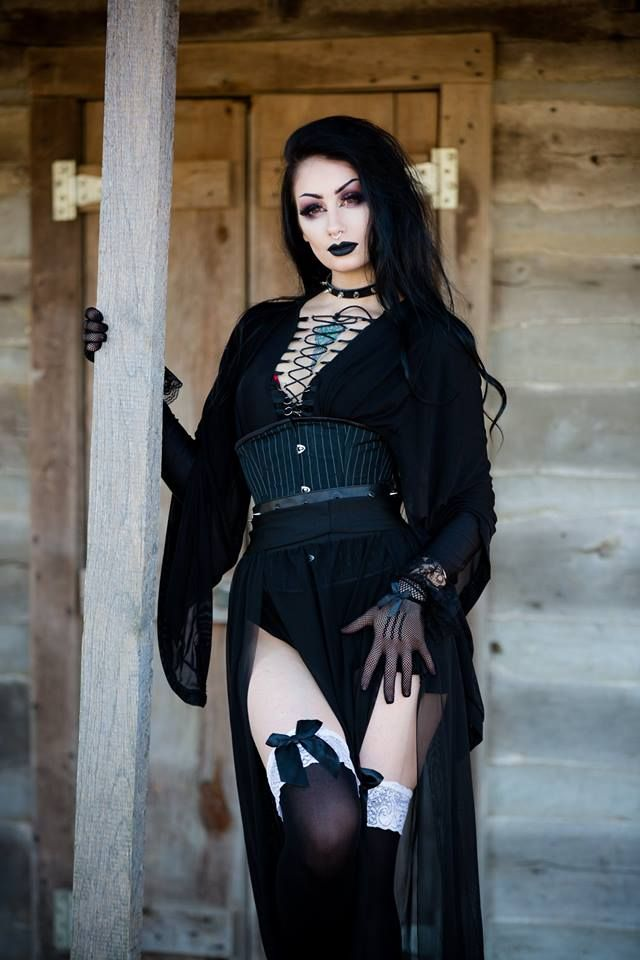 The Black Metal Barbie   Gothic fashion, Goth fashion