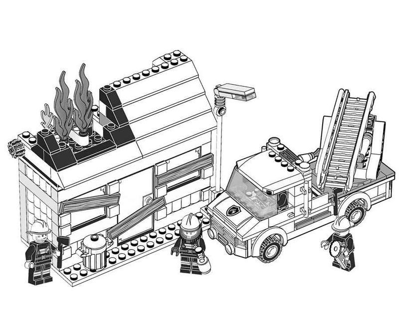 Lego Fire Truck Coloring Page In 2020 Truck Coloring Pages Lego Coloring Pages Coloring Pages