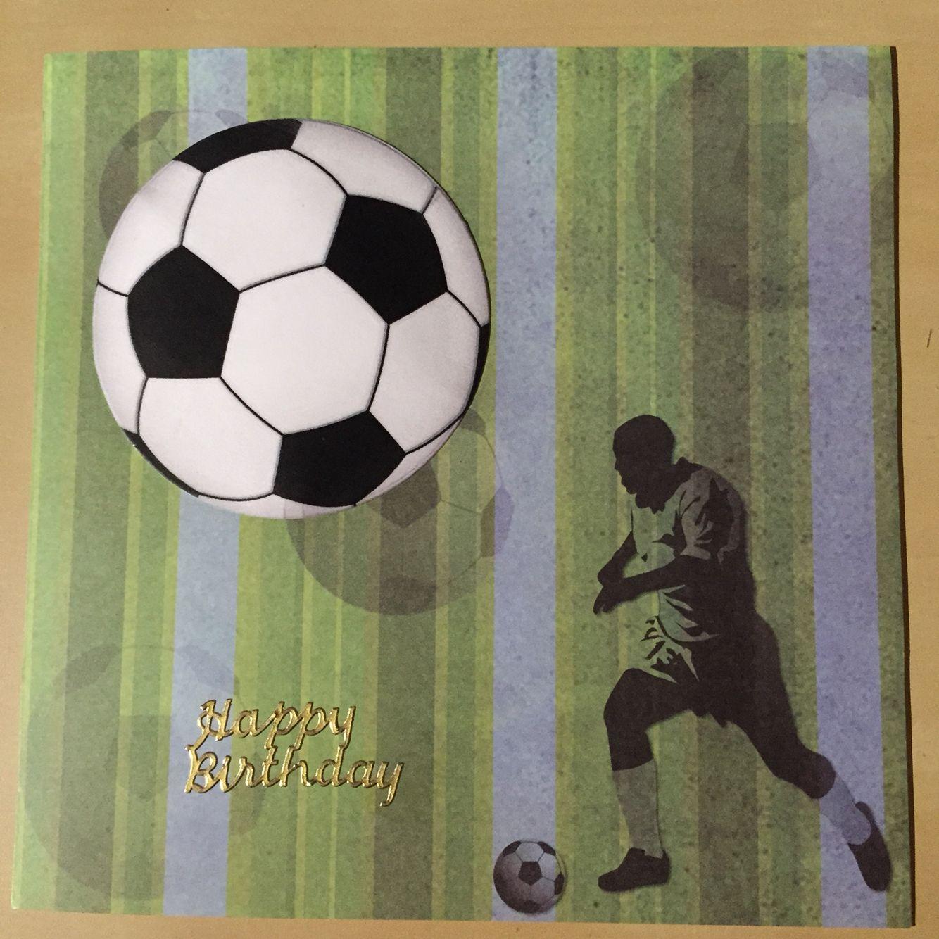 Football birthday card minkster designs card making creations by football birthday card bookmarktalkfo Gallery