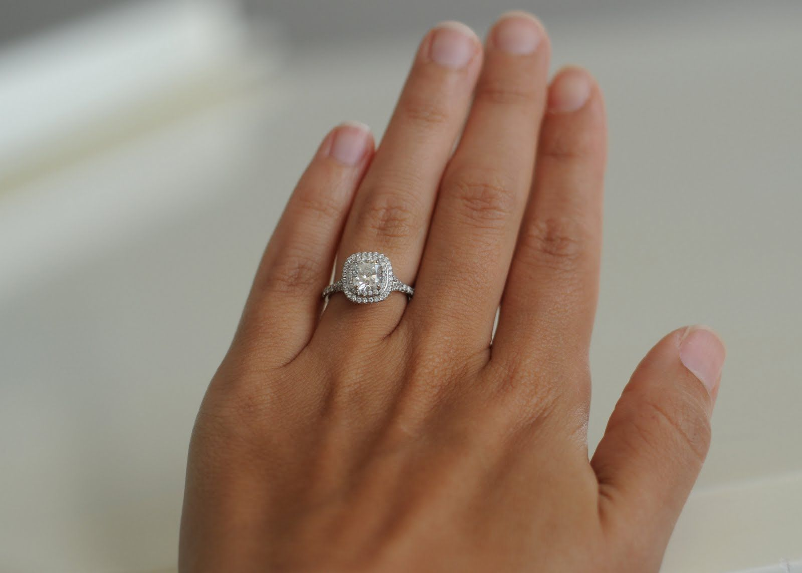 Engagement ring tiffany on hand  Tiffany Soleste E-Ring. I tried this beauty on in July when I went ...