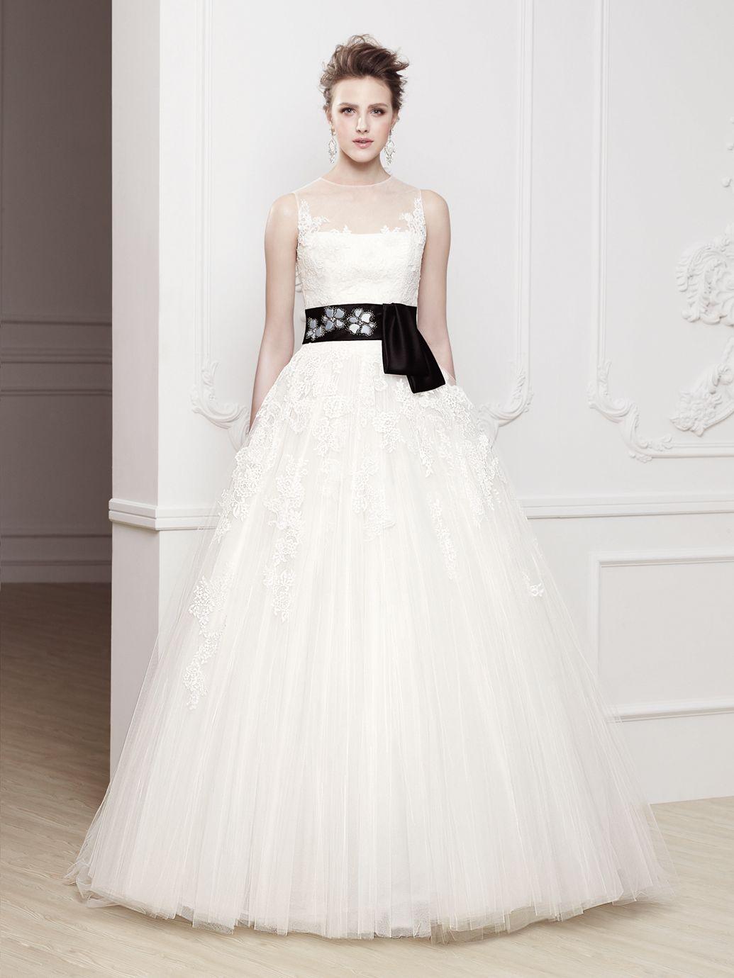 Blue grey wedding dress  OLGA  Blue Collection  Enzoani  Available Colours  IvoryBlack