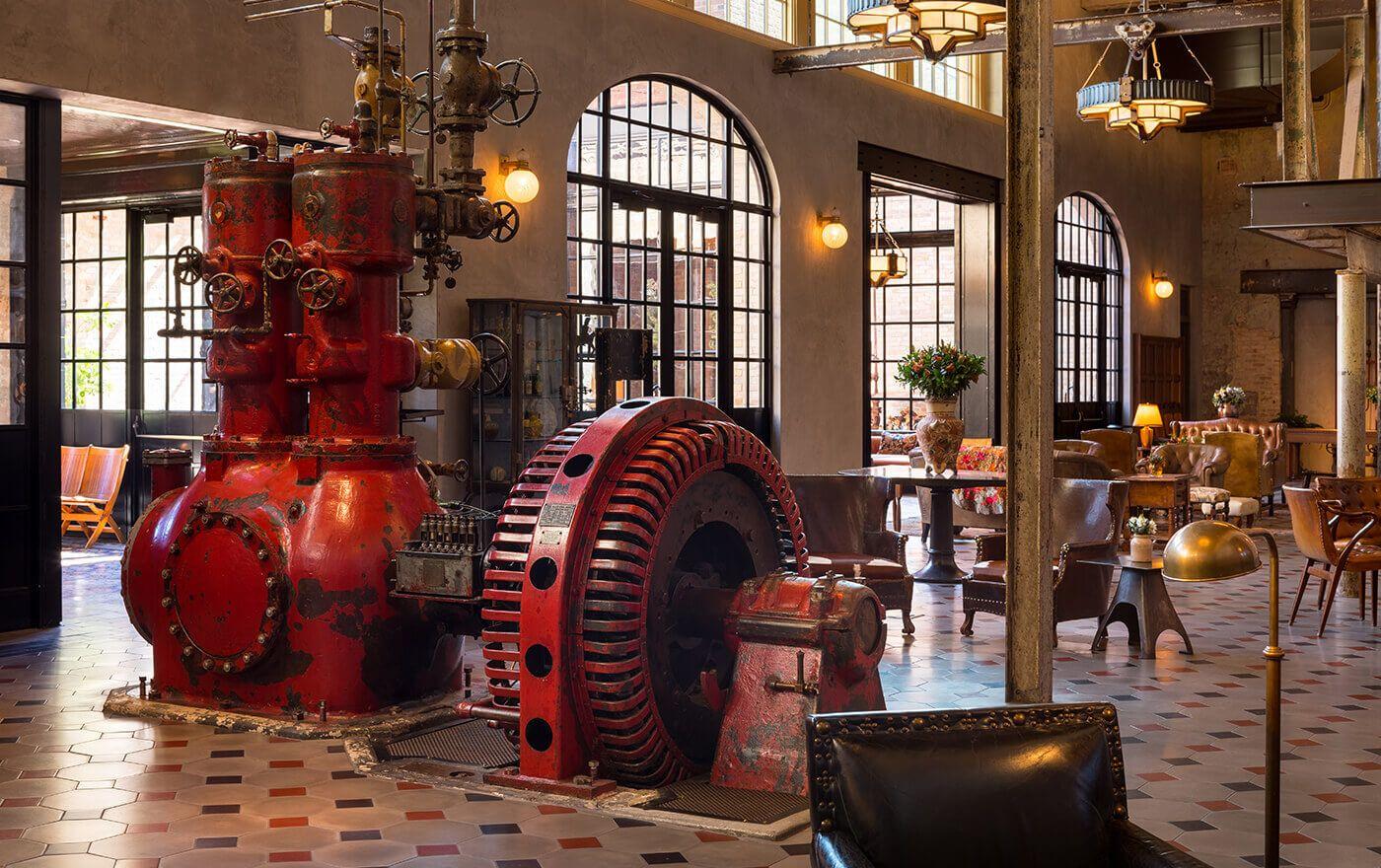 Engine In The Hotel Emma Lobby San Antonio Hotel Emma San