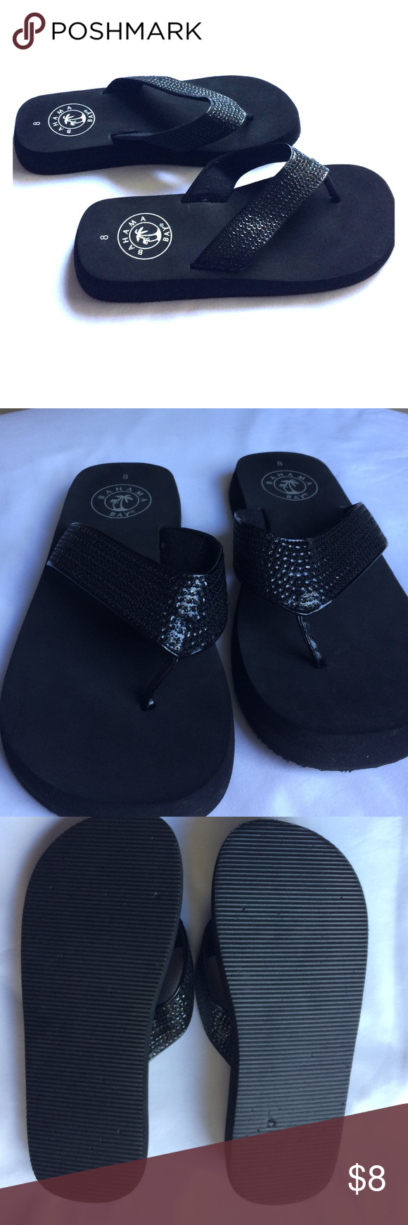 376b5898af8 BAHAMA BAY Flip Flops Worn once. Can fit sizes 7 and 7.5 Bahama Bay ...