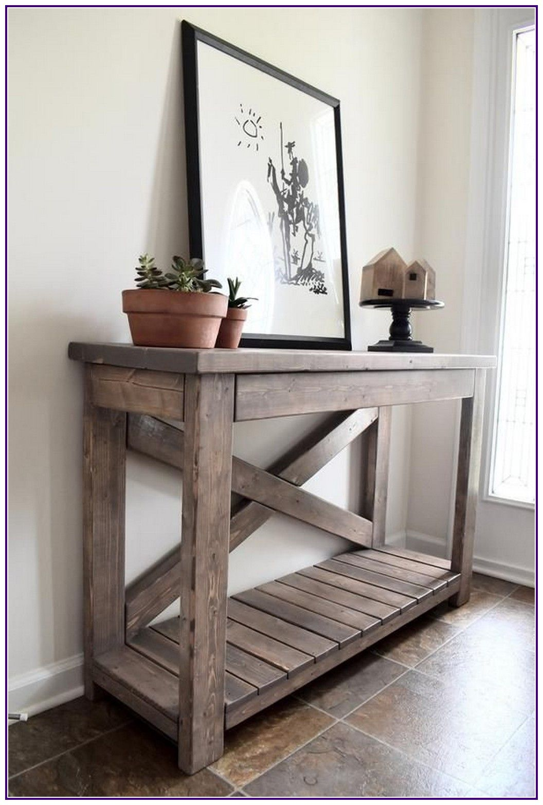 15 wood rustic console table modern farmhouse 00005