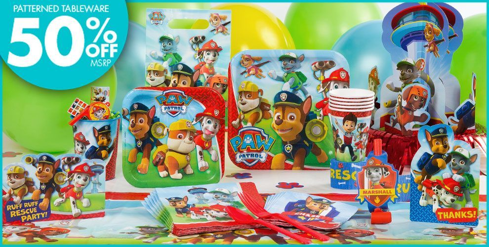 Paw patrol 1st birthday party supplies norbertos 1st bday paw patrol 1st birthday party supplies stopboris Images