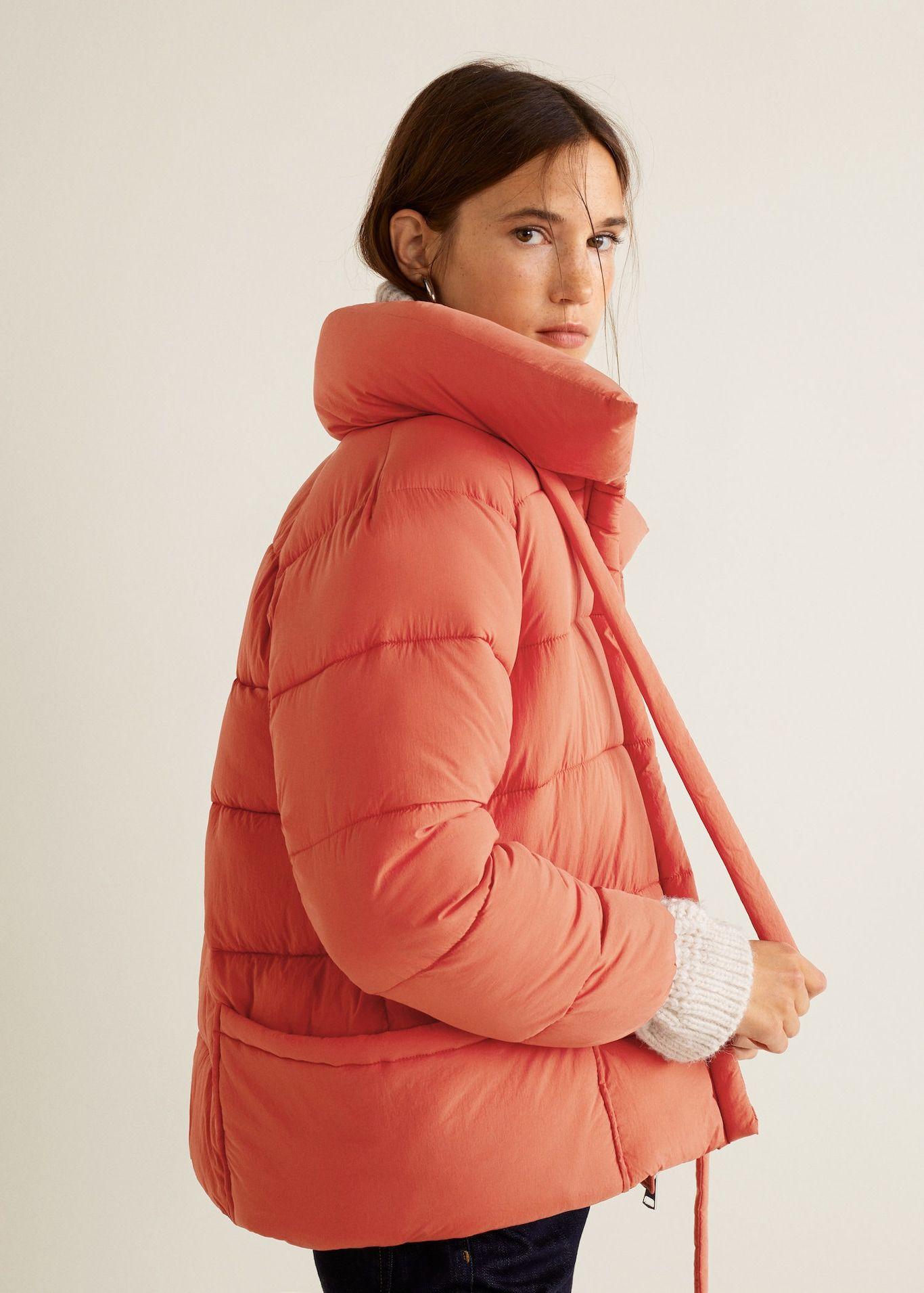 Water Repellent Quilted Coat Women Mango Usa Quilted Coat Women Quilted Coat Puffer Jacket Women [ 1911 x 1366 Pixel ]