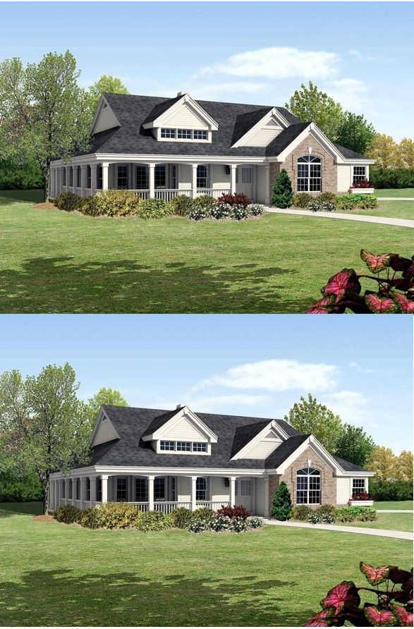 Modern Ranch Style House Plan With 4 Bed 4 Bath 3 Car Garage In 2020 Ranch Style House Plans House Plans Modern Ranch