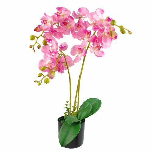 The Seasonal Aisle Orchids Floral Arrangement In Pot In 2020 Artificial Orchids Orchids Artificial Hydrangeas