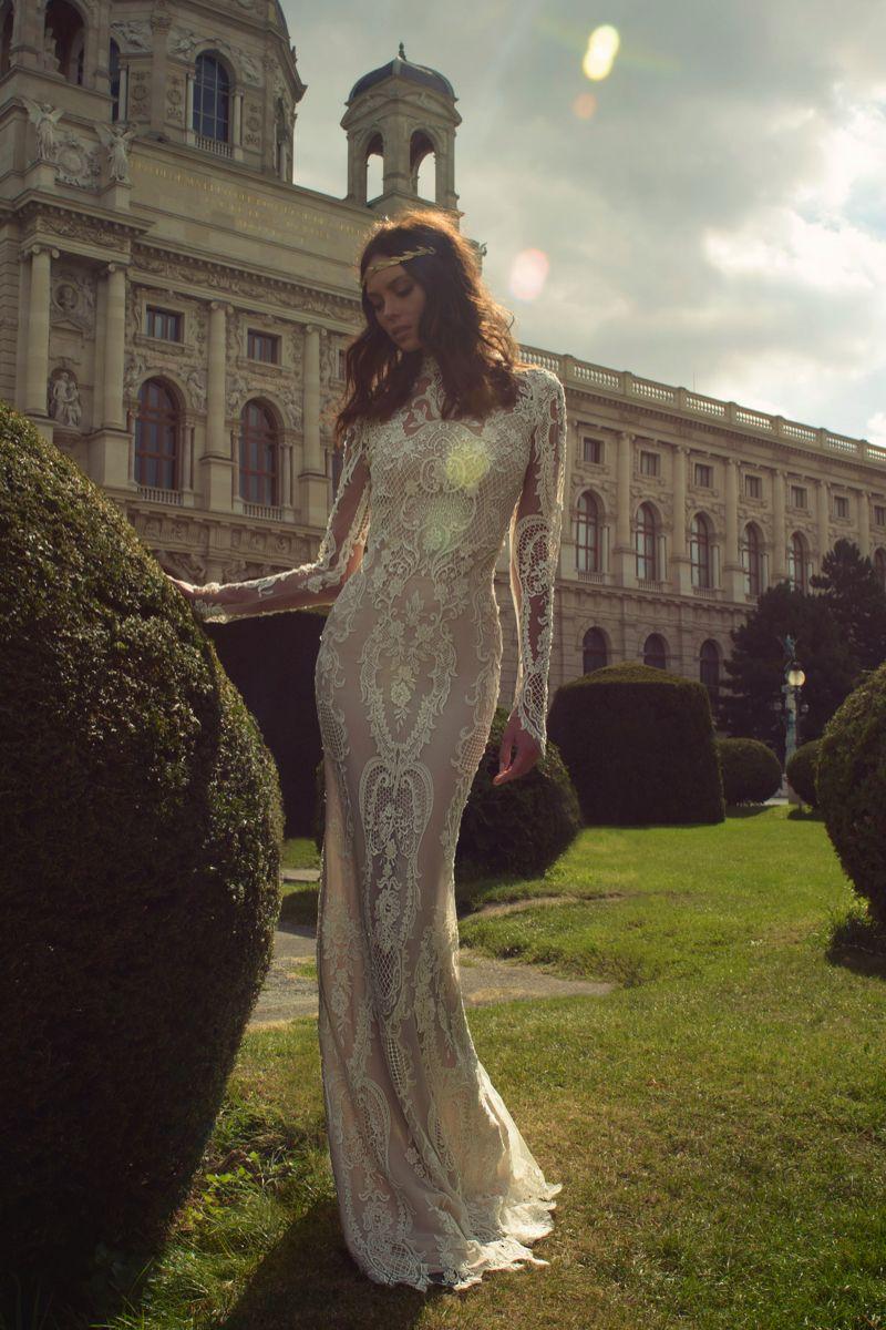 Lace panel wedding dress. Style E1609 Ester Haute Couture #weddingdress