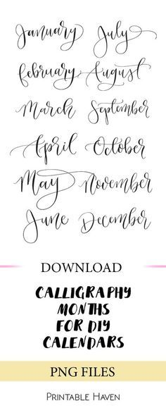 Calligraphy Months #calligraphy