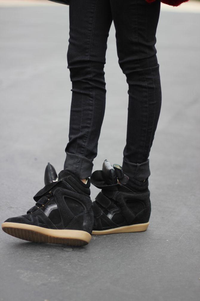 Isabel Marant high-top sneakers. I'm