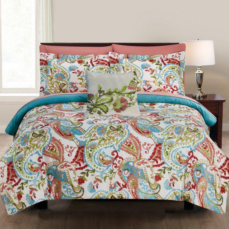 Jamilee 8 Piece Reversible Comforter Set Complete