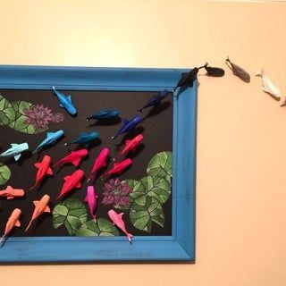 Photo of Wall of Rainbow Koi: My friend saw a wall hanging of origami koi that she really…