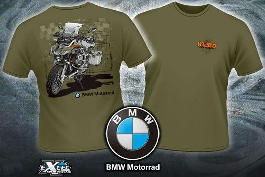 82de9a5bbf356 Shirt - BMW R1200GS Adventure Fan T-shirt - by Excel Sportswear ...