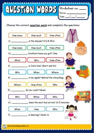 #Question words, English teaching resources, printables ...