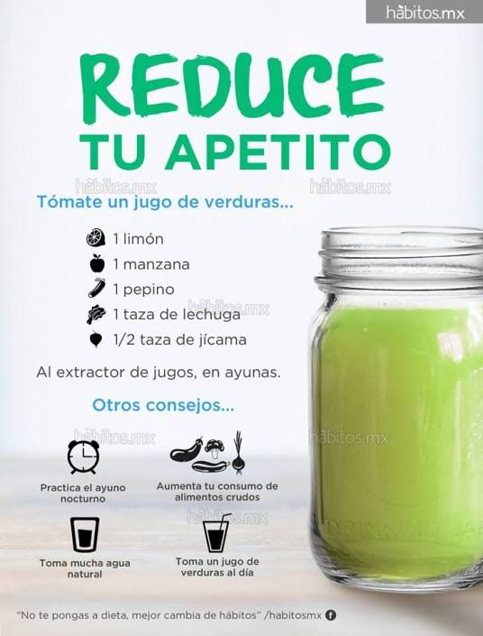 jugos naturales para bajar de peso en ayunas con