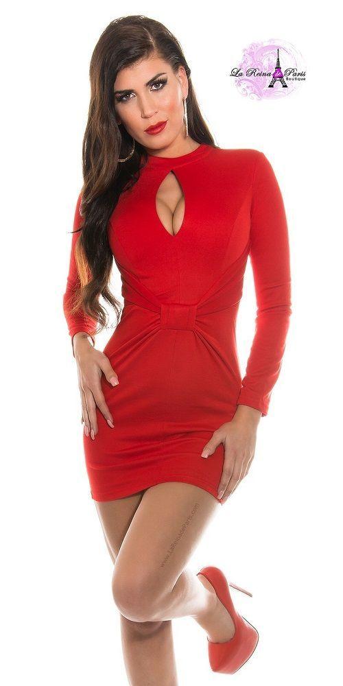 26b58a3570 Comprar Mini vestido rojo ceñido espectacular online Vestidos ...