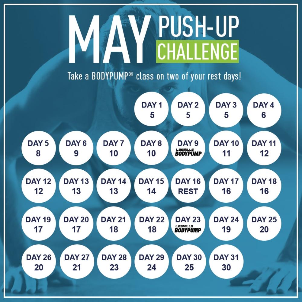 May Fitness Challenge 31 Days Of Push Ups Push Up Challenge Workout Challenge Month Workout