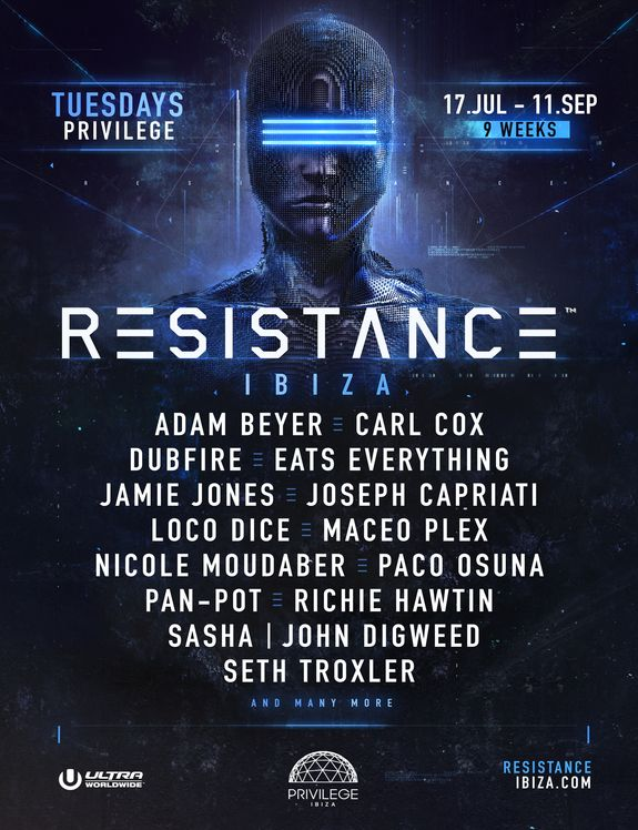 housemusic Resistance 2018 headliners announced