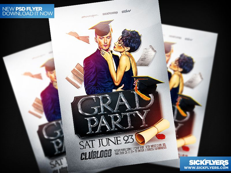 Graduation Flyer Template Psd By IndustrykidzDeviantartCom On