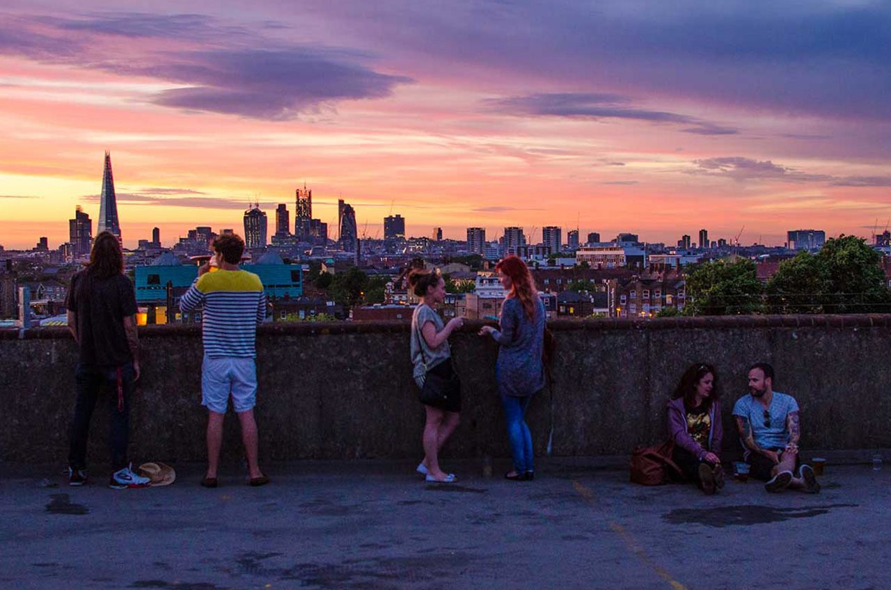 London franks campari bar london london pinterest cafes franks cafe is a rooftop bar and restaurant on the floor of the multi story car park in peckham malvernweather Image collections