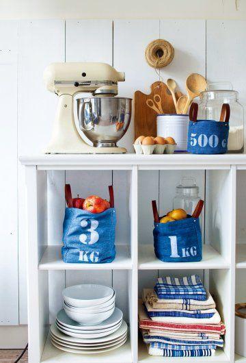 Denim storage bags idea/DIY