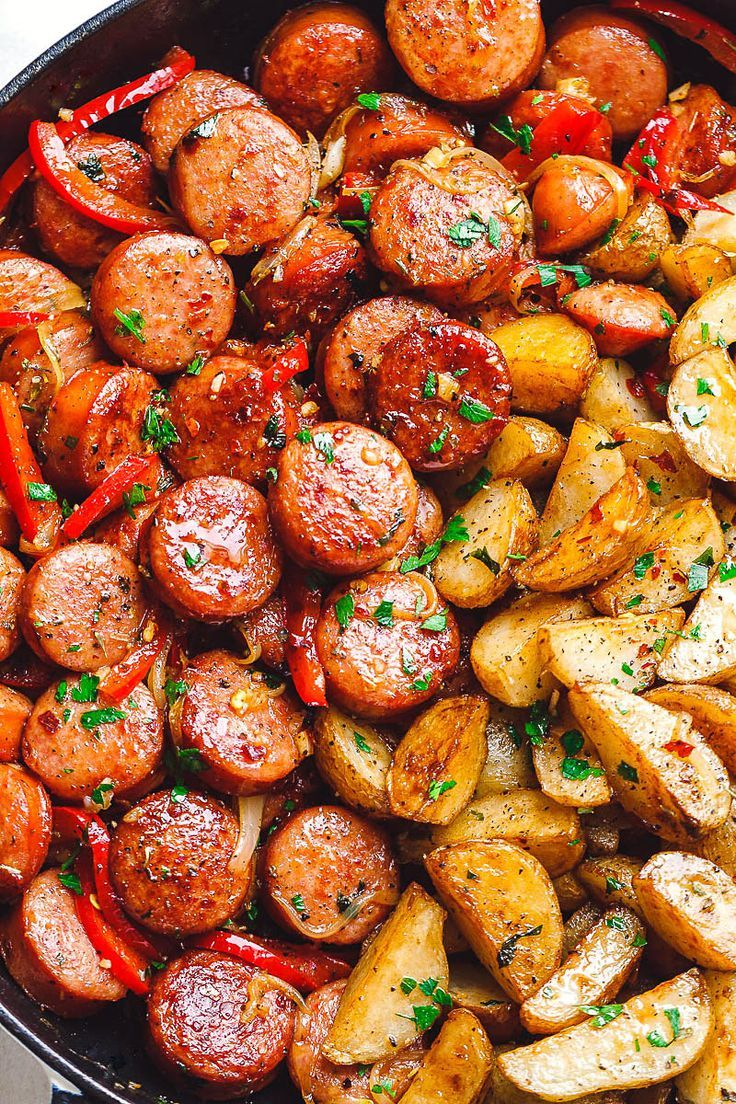 20-Minute Smoked Sausage and Potato Skillet