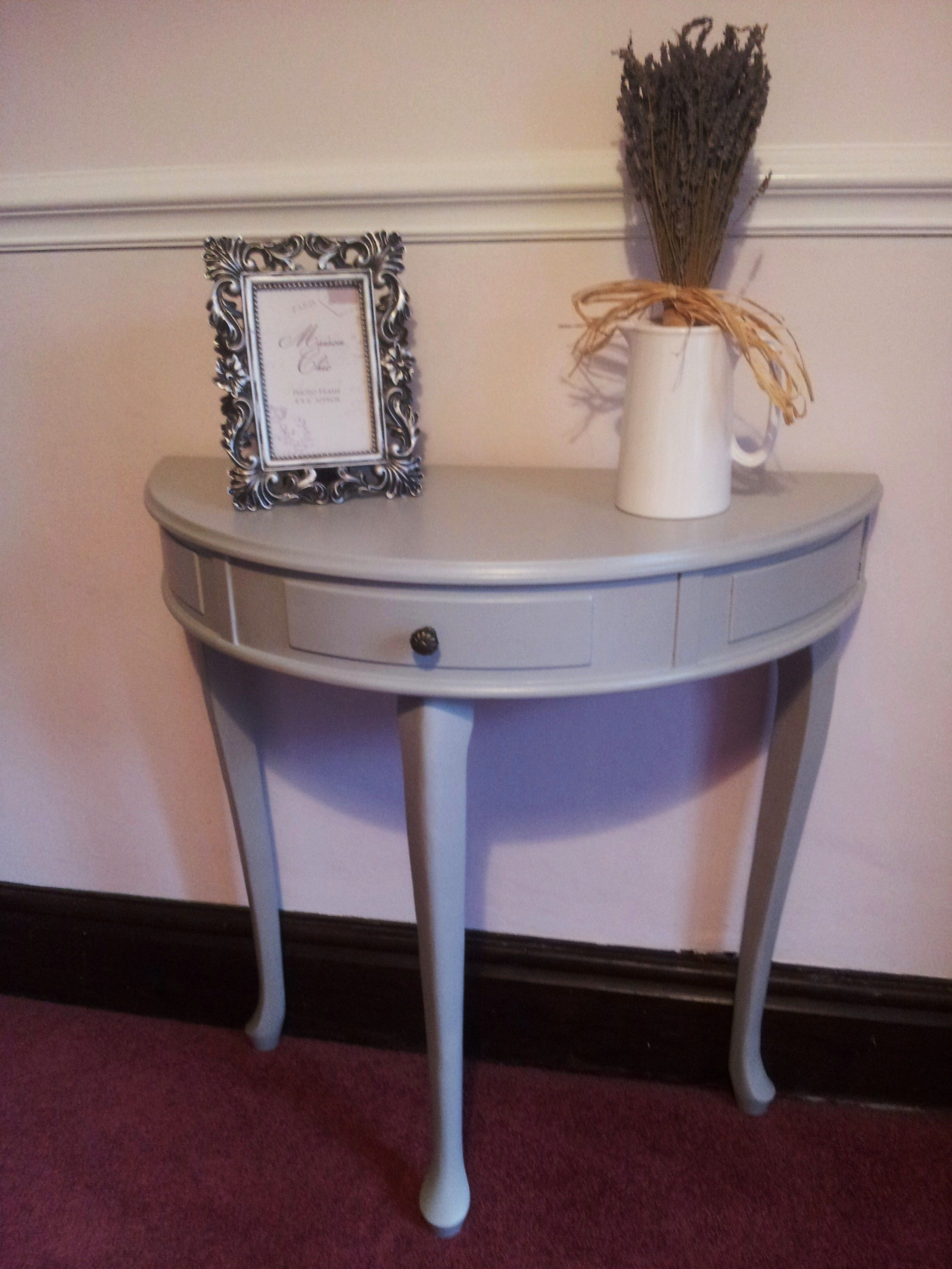 Gorgeous Half Moon Table Painted With Farrow And Ball Lamproom Gray By  Https:// · Half Moon TableShabby Chic ...