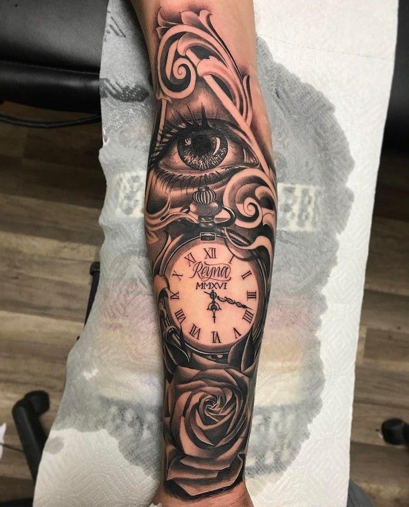 Roman Numeral Clock Tattoo : roman, numeral, clock, tattoo, Clock, Tattoo, Ideas, Tattoo,, Tattoos,