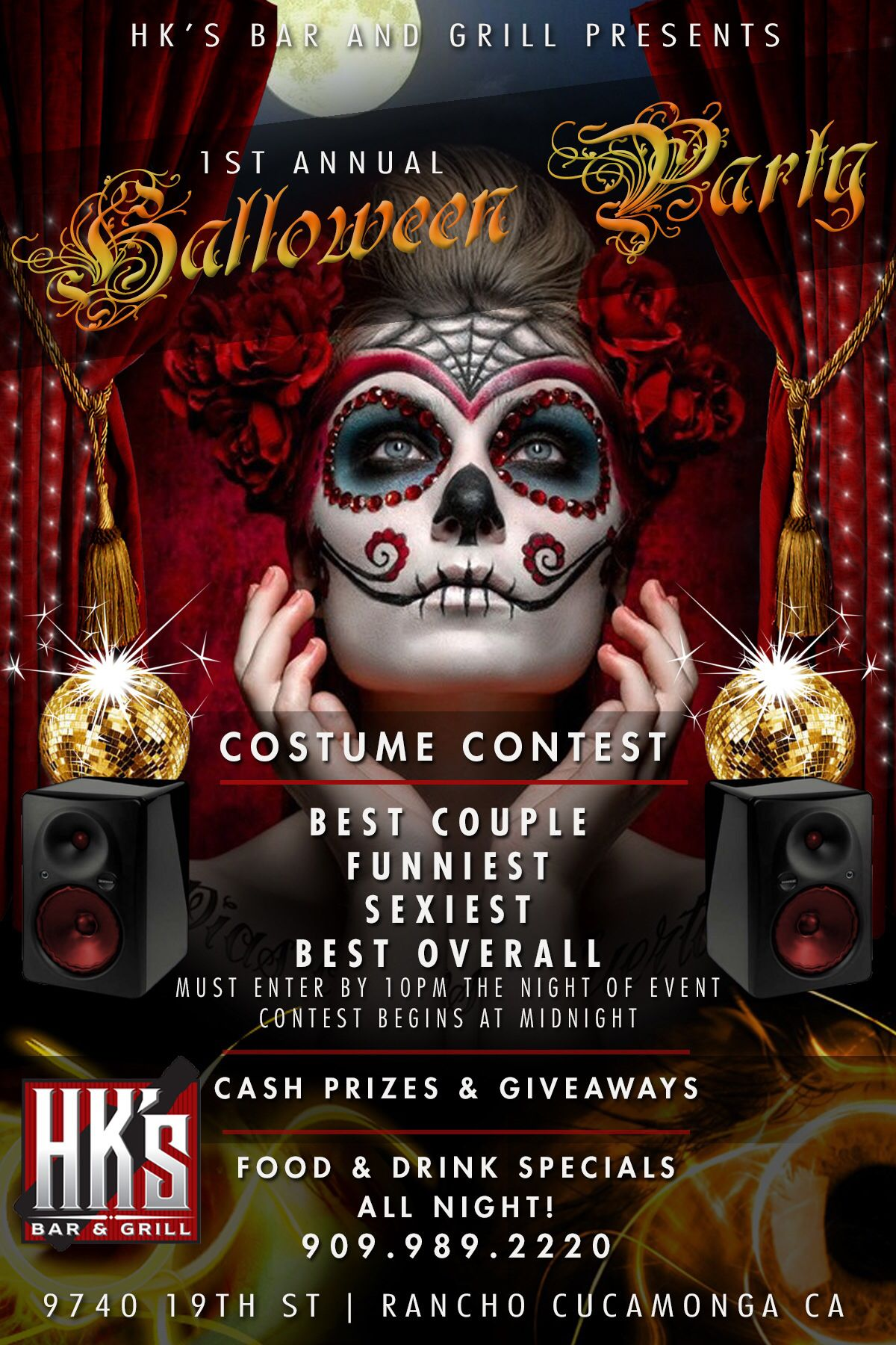 A Halloween Party Flyer Design don for HKS Bar and Grill in Alta ...