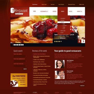 Restaurant Reviews PSD Template - dinner menu template free