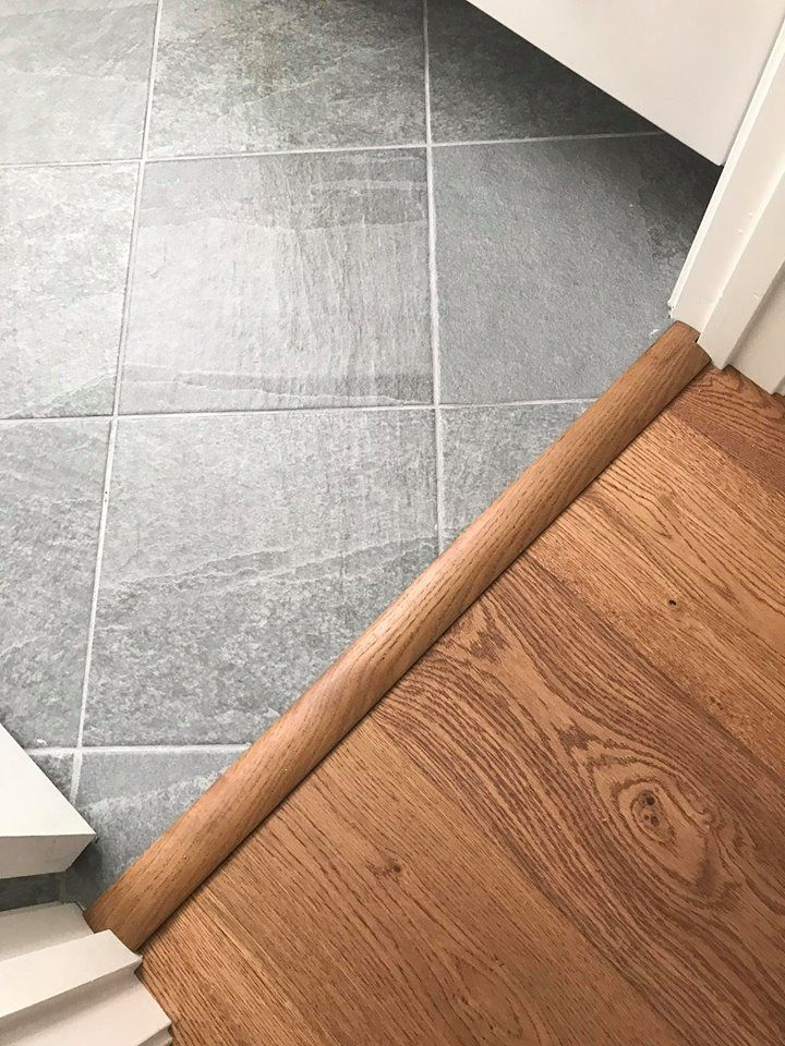 Transition From Engineered Hardwood To Tile Impressions Hardwood Denali In Wheat Color Florida Til Vinyl Flooring Bathroom Entryway Tile Transition Flooring