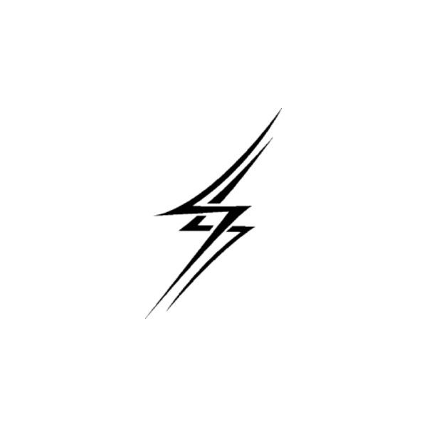 Lightning Bolt Tattoo Clip Art Liked On Polyvore Polyvore