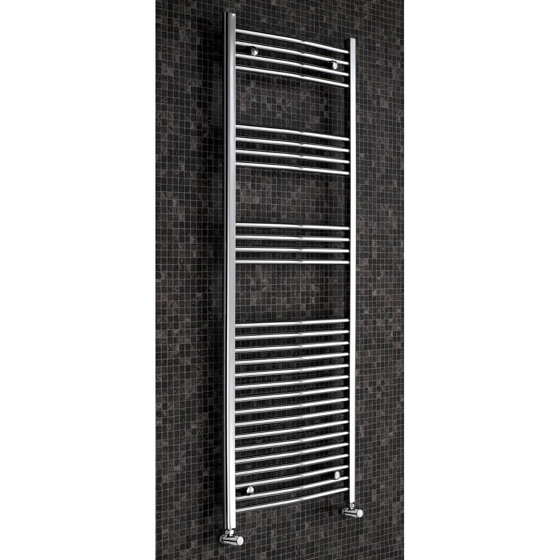 Curved heated towel rail Curved heated towel