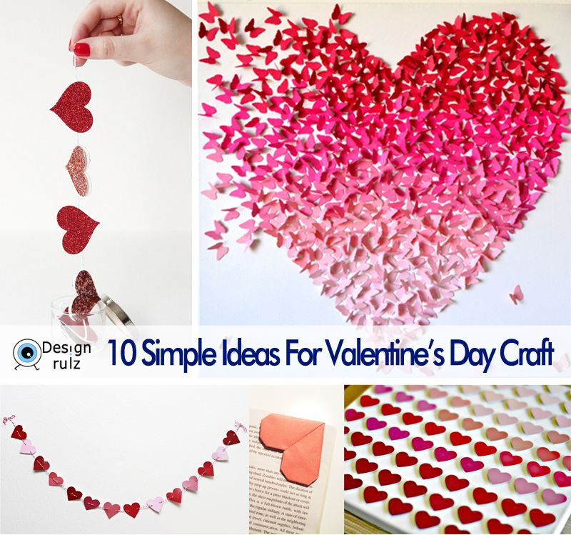 10 simple ideas for valentine's day craft | craft and flower cards, Ideas