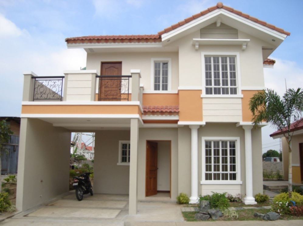 Resultado De Imagen Para Fachada De Casa De Dos Pisos Con Terraza 2 Storey House Design Small House Design Philippines Small House Design