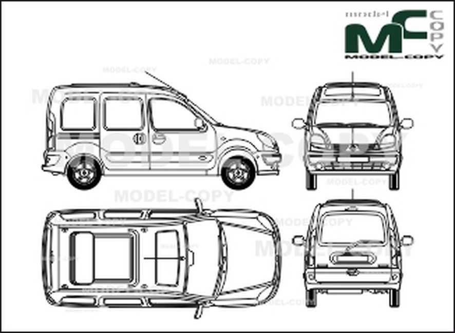 Renault Kangoo, 2 sliding doors, tailgate, glazed (2003