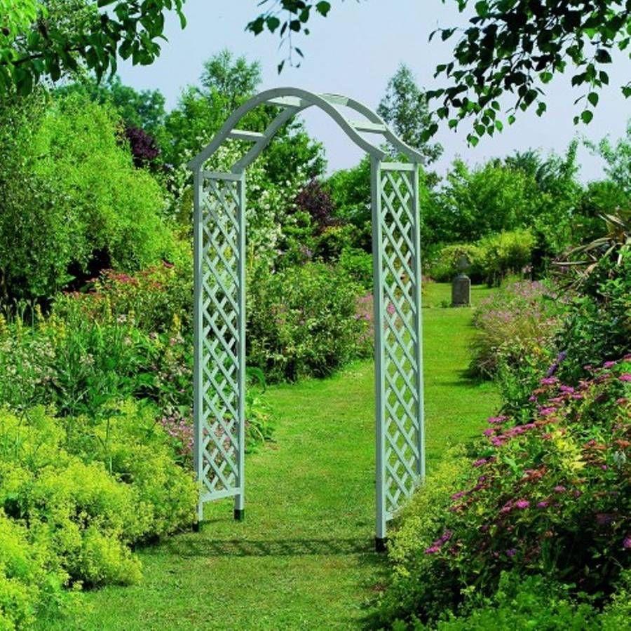 Garden Green Metal Arch Garden Arches Wooden Garden 400 x 300
