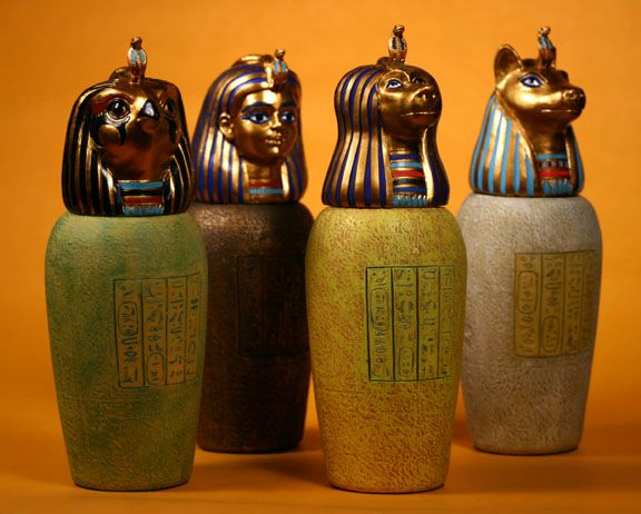 Canopic jars  sc 1 st  Pinterest & Canopic jars | Egyptian Magick | Pinterest | Jar and Ancient artifacts
