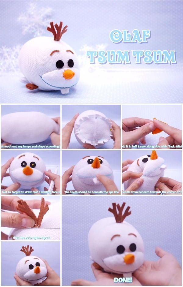 How to Make Disney Frozen Olaf Tsum Tsum Plushie | http://UsefulDIY.com