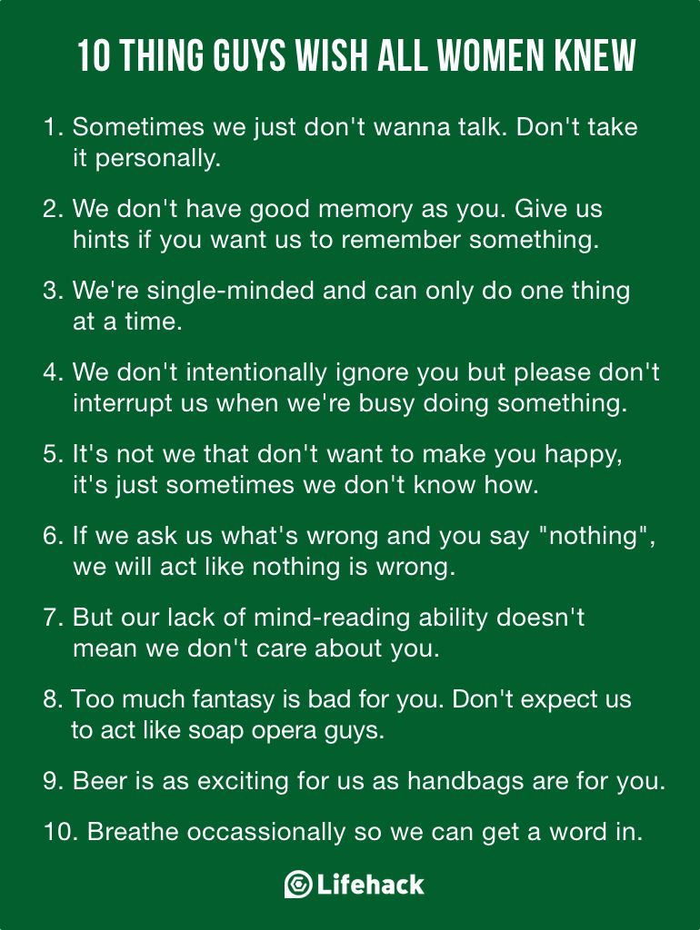10 Things Guys Should Know About Girls