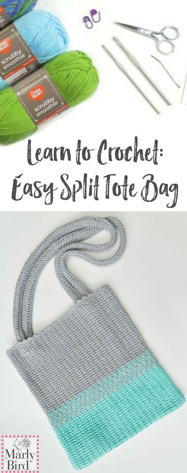 Video Tutorial: How to Crochet Easy Split Crochet Tote | Smoothies ...