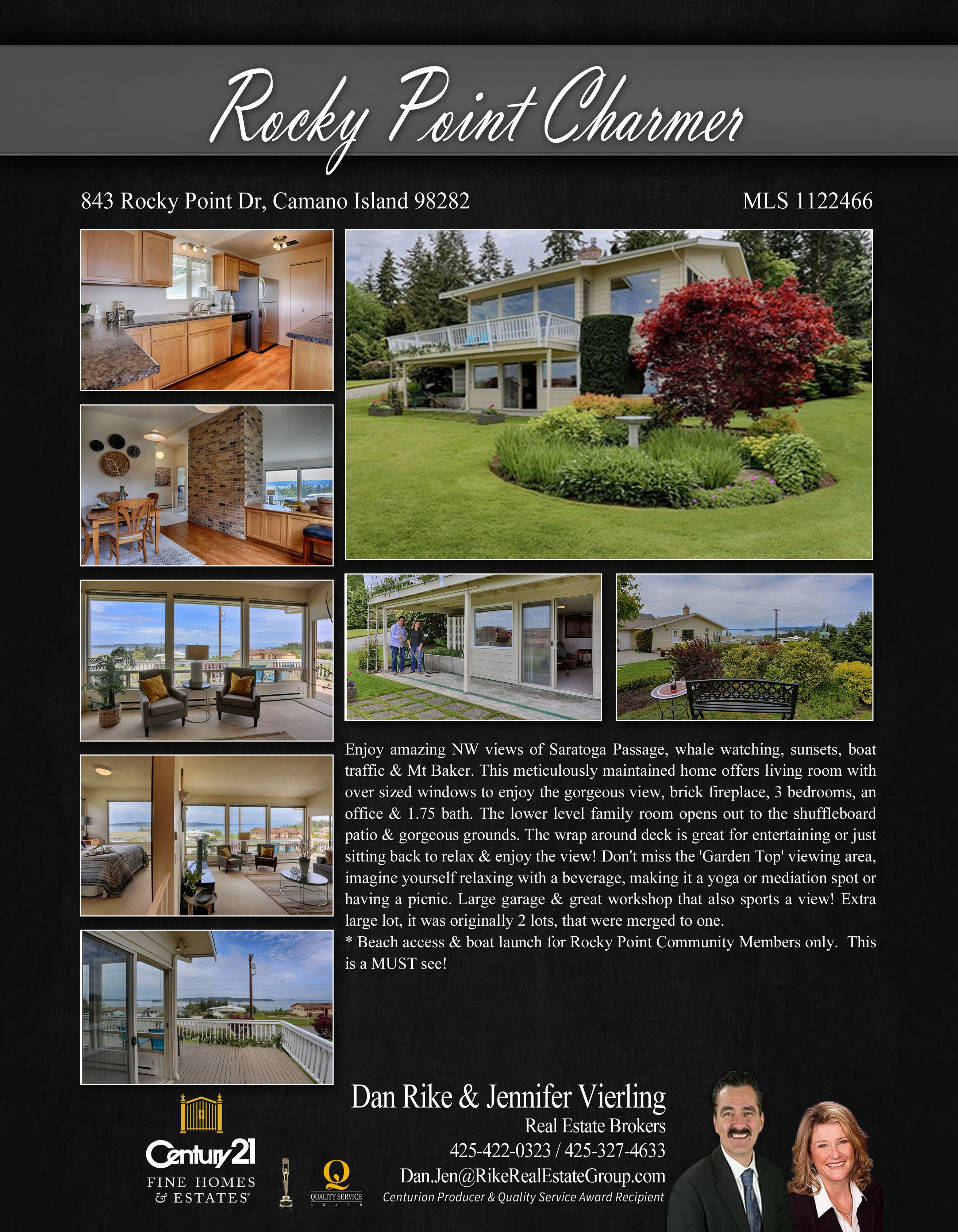You Could Enjoy Great Awesome Views With This Newly Listed Property In Camano Island Insterested You May Contact Brick Fireplace Camano Island Gorgeous View