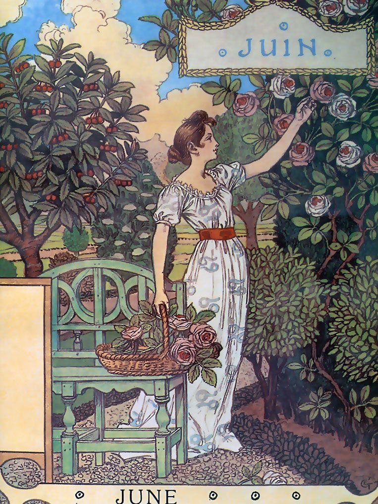 Eugene Grasset Calendar Eugene Grasset Art Nouveau Design Art