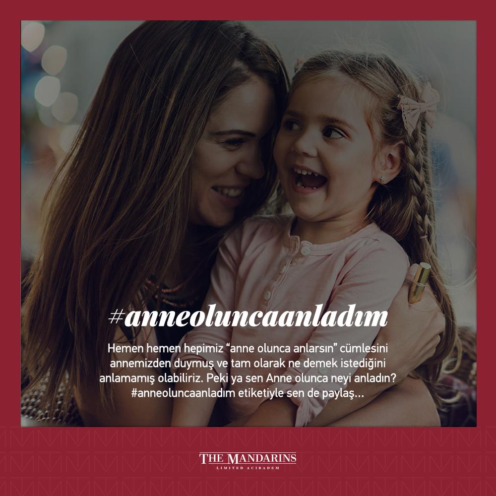 Anne olduktan sonra ne hissettiğinizi #anneoluncaanladım etiketiyle görselin atında yorum olarak paylaşın, anne olduğunuzda neler hissettiğinizi şimdi annenize anlatma fırsatı yakalayın. #anneoluncaanladım #annelergünü #anne #canımannem #themandarinsacıbadem