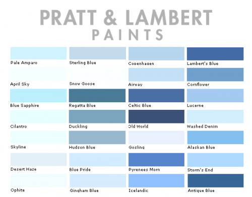 Pratt Lambert Color Collection6 500x391 Decorating Secrets 60 Quotes From The Best Experts In Design Colori Png